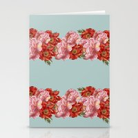 vintage floral Stationery Cards featuring vintage floral by cardboardcities