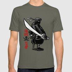Debate Over: Pirates vs. Ninjas Mens Fitted Tee LARGE Lieutenant