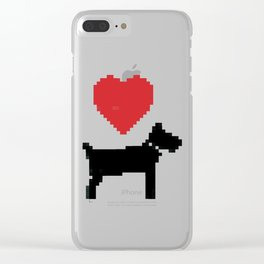 love dog Clear iPhone Case