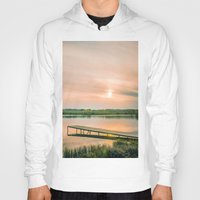 running Hoodies featuring Running clouds by Svetlana Korneliuk