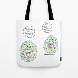 Holiday Wreaths Tote Bag