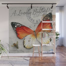 Vintage Butterfly Wall Mural