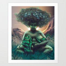 Mother Baobab Art Print