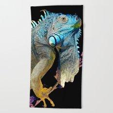Green Iguana Beach Towel