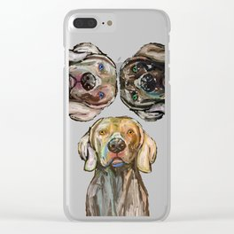 Triple Hunting Dogs Clear iPhone Case
