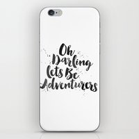 adventure is out there iPhone & iPod Skins featuring Adventure  by Nina & Charlotte