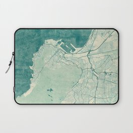 Cape Town Map Blue Vintage Laptop Sleeve