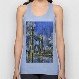 Tower Bridge and the Waverley Art Unisex Tank Top