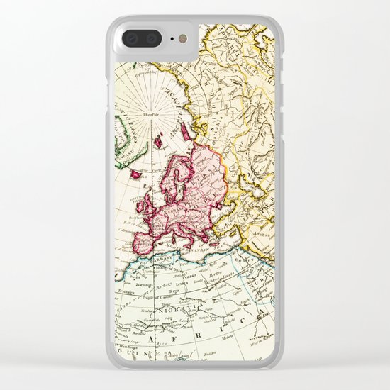 Northern Hemisphere- reproduction of William Faden's 1790 engraving Clear iPhone Case