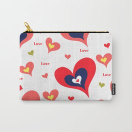 The hearts of Saint Valentines' Day Carry-All Pouch
