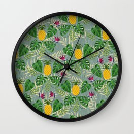 Heligan Pineapples Wall Clock