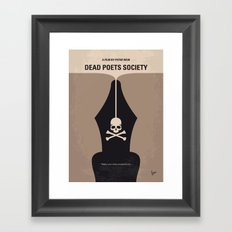 No486 My Dead Poets Society minimal movie poster Framed Art Print