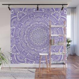 Violet Purple Mandala Detailed Ethnic Tribal Pattern Wall Mural