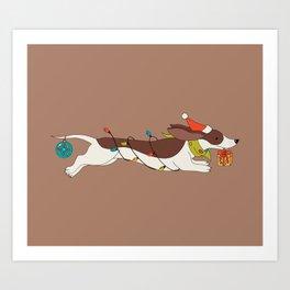 Christmas Dachshund Art Print