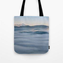 Above the fog, Castelluccio, Italy Tote Bag