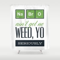 chemistry Shower Curtains featuring Fun with Chemistry NaBrO by Susanne Floe