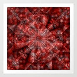 Fractal Imagination I - Ruby Art Print