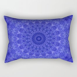 Cosmos Mandala II Cobalt Blue Rectangular Pillow