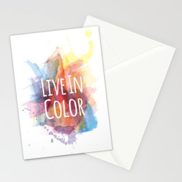 Live In Color Stationery Cards