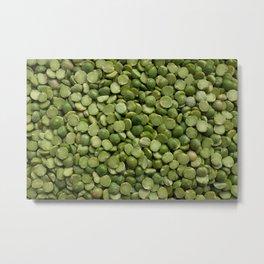 Green split peas Metal Print