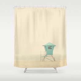 the sound of outer ocean on a beach ... Shower Curtain
