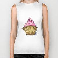 cupcake Biker Tanks featuring Cupcake by Svitlana M