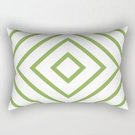 Nested Green Squares Rectangular Pillow