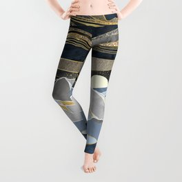 Metallic Sky Leggings