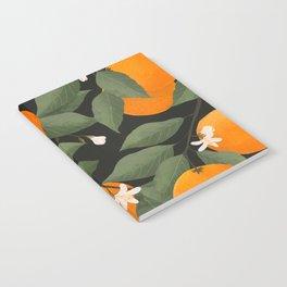 fresh citrus // dark Notebook