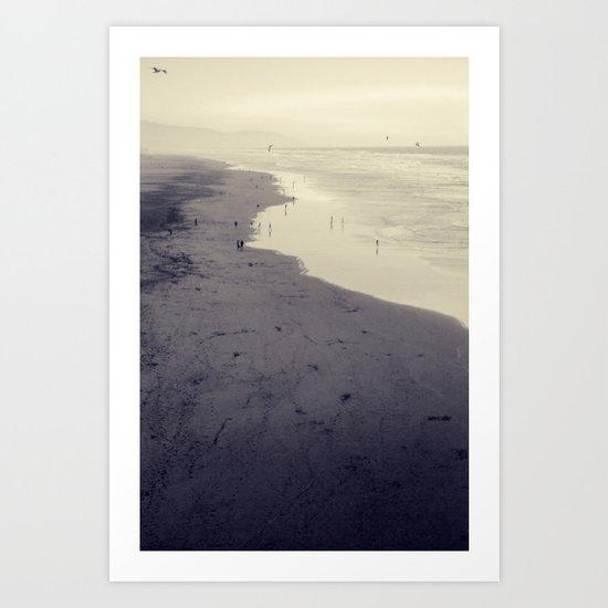 beach nostalgia Art Print