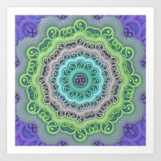 Yin-Yang Mandala Art Print
