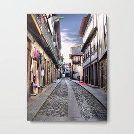Medieval street of Guimaraes, Portugal Metal Print
