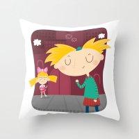 arnold Throw Pillows featuring Arnold by Maria Jose Da Luz