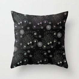 Scopions pattern Throw Pillow