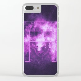 Shinto symbol. Japan Gate. Torii gate. Abstract night sky background. Clear iPhone Case