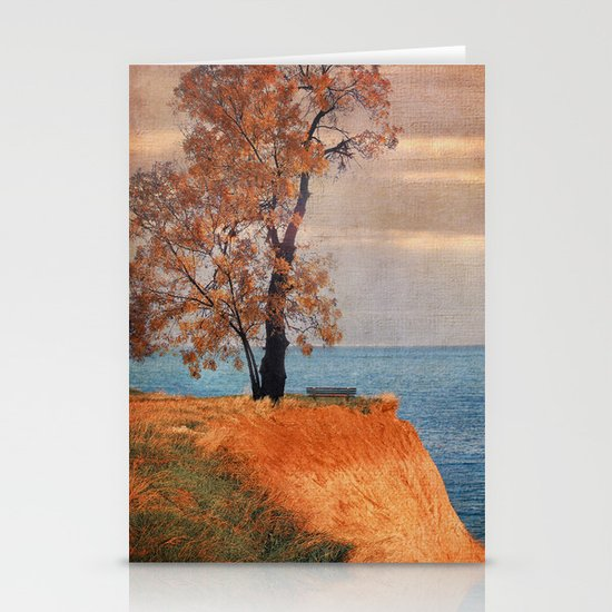 Autumn by the sea Stationery Cards