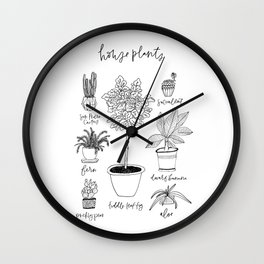 House Plants Print Wall Clock