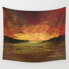Sunset Experiment Wall Tapestry