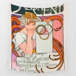 "Alphonse Mucha ""Salon des Cent"", 1897 Wall Tapestry"