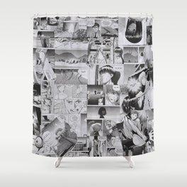 Russian Manga Collage by ilya konyukhov (c) Shower Curtain
