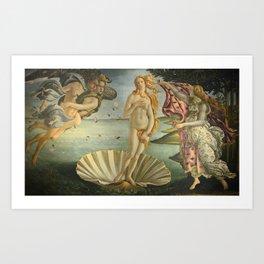 The birth of Venus Art Print
