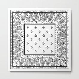 Classic White Bandana Metal Print