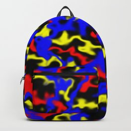 Red, Yellow, Blue Backpack