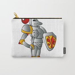 Cartoon knight. Carry-All Pouch