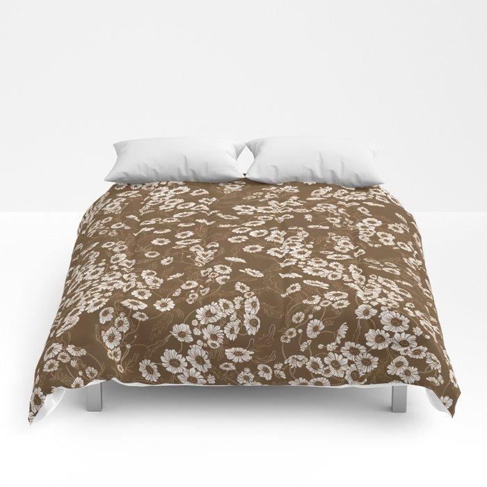 Daisy Dream Sepia Comforters