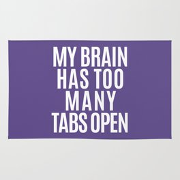 My Brain Has Too Many Tabs Open (Ultra Violet) Rug