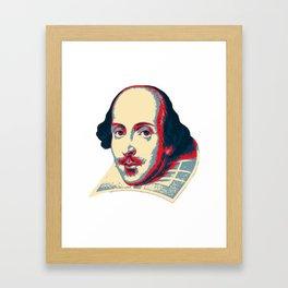 Shakespeare Pop Art Framed Art Print