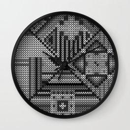 grey knit Wall Clock