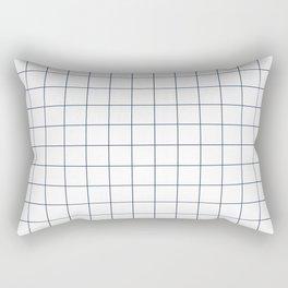 Chek - check grid simple minimal black and white modern urban brooklyn nashville hipster gifts Rectangular Pillow
