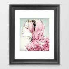Pink Dye Framed Art Print